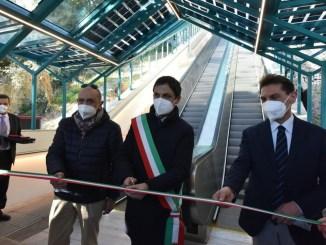 Inaugurate le Scale mobili di viale Pellini a Perugia, completa riqualificazione dell'impianto