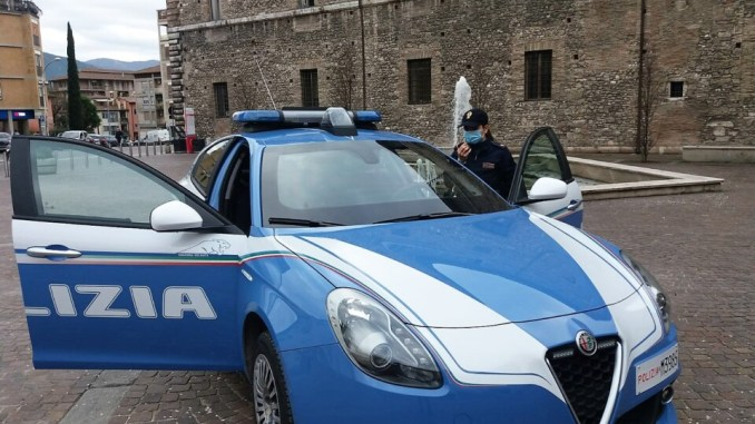 Terni, Polizia individua e denuncia rapinatore di distributore automatico
