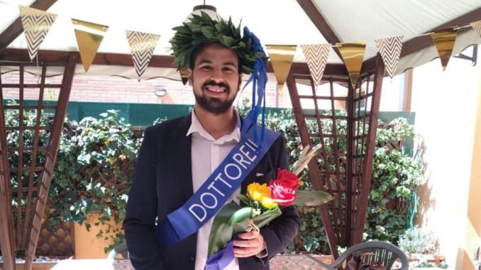 """Mattia Bacchetta si è laureato durante il covid, tesi """"Partito d'Azione"""""""