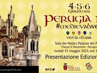 Lunedì 31 maggio alle 11.30 in sala dei notari, Perugia 1416, presentazione dell'edizione 2021