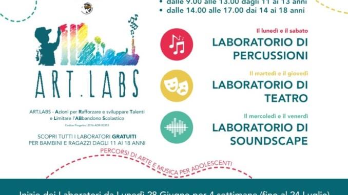 Laboratori di Percussioni, Teatro e Soundscape del progetto Art.Labs.