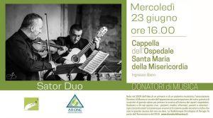 23 giugno, concerto di solidarietà all'ospedale di Perugia