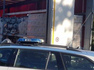 Incendio in Autostrada del Sole A1, tra Attigliano e Orte, camion in fiamme