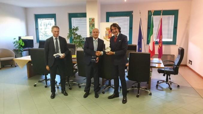 Francesco Messina, ex questore e direttore anticrimine centrale, in visita a Perugia
