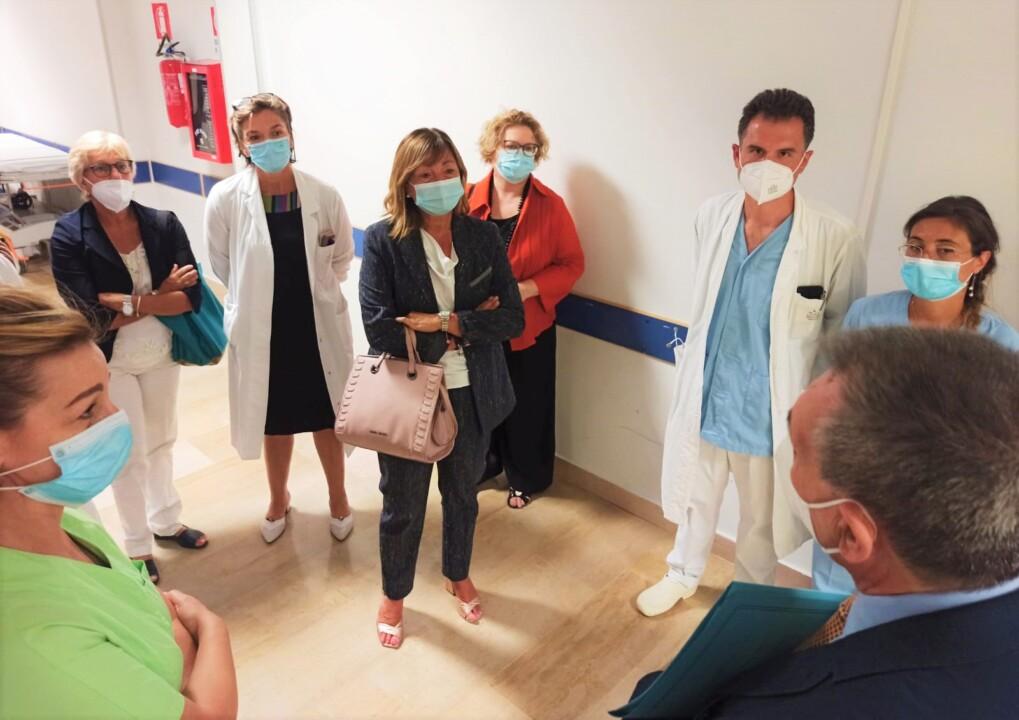 Visita della presidente Tesei all'Ospedale di Spoleto, il punto della situazione