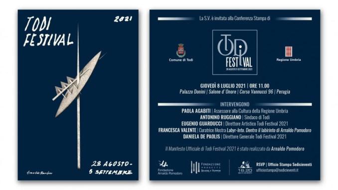 Giovedì 8 luglio 2021 ore 11 presentazione Todi Festival a Palazzo Donini