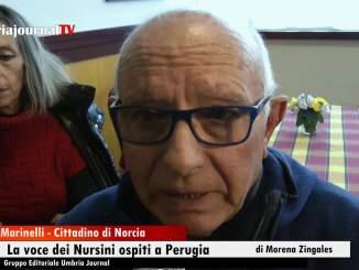 Sisma, la voce dei Nursini ospiti a Perugia in un albergo