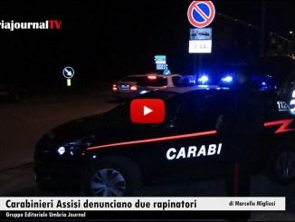Carabinieri di Assisi hanno denunciato due giovani rapinatori, assaltato distributore