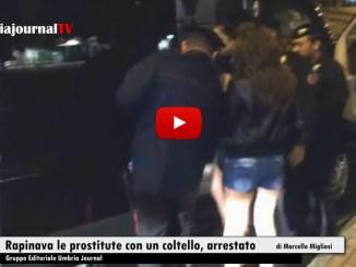 Rapinava le prostitute con un coltello, arrestato a Perugia dai Carabinieri