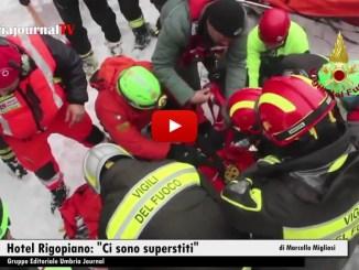 Vigili del fuoco salvano madre e figlio da Rigopiano, 8 per ora i sopravvissuti, si cerca Riccetti