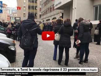 Terremoto, scuole chiuse a Terni, riapriranno il 23 gennaio