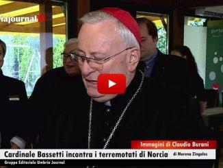 Cardinale Gualtiero Bassetti ha incontrato gli ospiti terremotati di Norcia