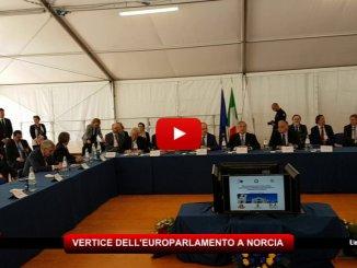 Vertice dell'Europarlamento a Norcia, arrivate nella città di San Benedetto tutte le autorità
