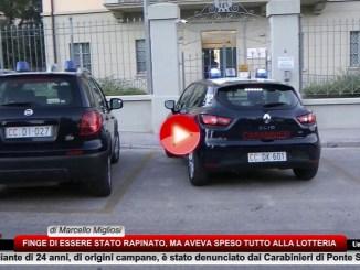 Spende tutto alla lotteria, finge rapina, ma viene denunciato dai Carabinieri