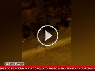In piena emergenza idrica, succede a Mantignana, guardate che spreco d'acqua