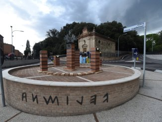 Rotatoria via Volumnia Ponte San Giovanni, taglio del nastro