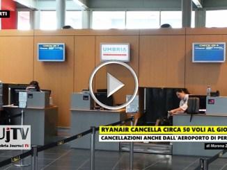 Ryanair, Aeroporto Perugia, cancellato il volo da e per Londra