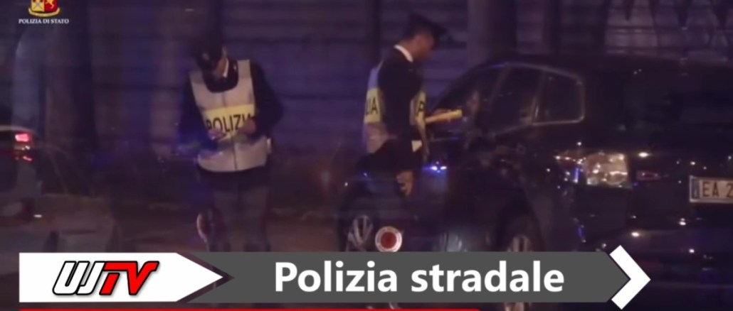 Controlli nella notte, Polizia stradale in azione con medici e cani poliziotto