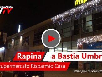Il video del luogo della rapina a Bastia Umbra, assaltato RisparmioCasa