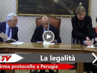 Infiltrazione criminale, firmato il protocollo tra Comune di Perugia e Prefettura