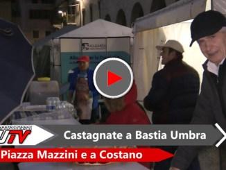 Bastia Umbra, Castagnate in Piazza Mazzini e Costano, il video