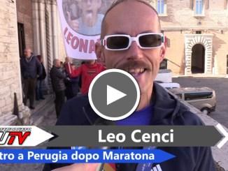 Leonardo Cenci a Perugia dopo New York, le prime dichiarazioni