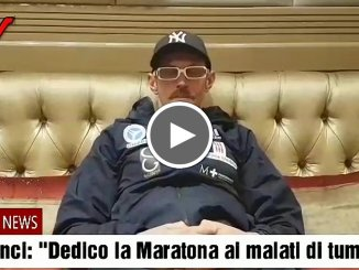 Leonardo Cenci dedicherà Maratona New York ai malati oncologici