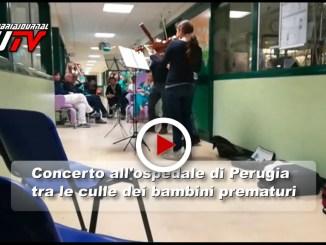 Ospedale Perugia, il video concerto tra le culle dei bambini prematuri