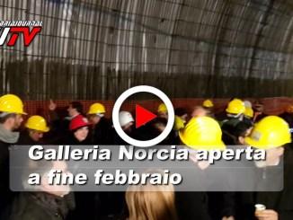 La galleria di Norcia aprirà a febbraio, il video