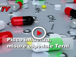 Ospedale di Terni fronteggia picco influenza, il video