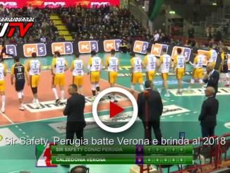 Sir Safety Conad Perugia batte Verona e brinda al 2018, il video