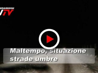 Anas, maltempo Centro Italia, il video della situazione in Umbria