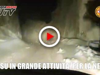 Emergenza neve Umbria, il Soccorso Alpino in azione da oltre 30 ore
