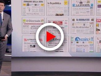 La rassegna stampa nazionale dei quotidiani di giovedì 12 aprile