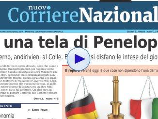 È una tela di Penelope, Nuovo Corriere Nazionale 31 maggio 2018