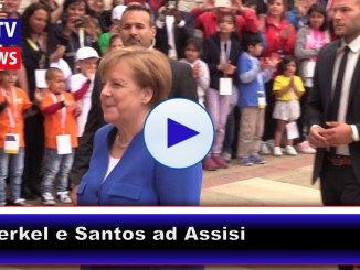 Assisi, Angela Merkel e Juan Manuel Santos sono arrivati nella città di Francesco