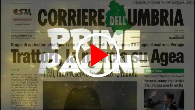 Raggiro da 72 milioni di euro, prime pagine dell'Umbria del 26 maggio 2018