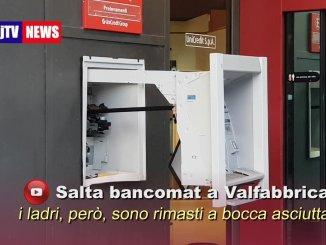 Assalto nella notte al bancomat di Valfabbrica, ma i soldi restano lì