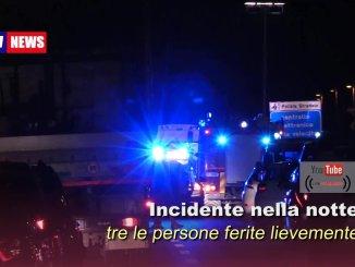 Incidente nella notte lungo la strada statale 75 Centrale Umbra, tre feriti