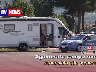 Rom a Bastia Umbra, blitz della polizia, otto persone denunciate