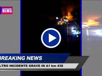 Altro grave incidente in A1 in serata, mezzi pesanti coinvolti, un morto
