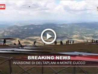 Trofeo Internazionale di Volo Libero, invasione di deltaplanial Monte Cucco