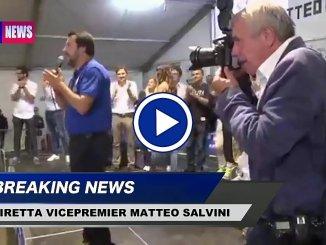 Diretta streaming su Facebook del vicepremier Ministro interno Matteo Salvini