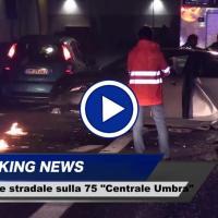 Incidente stradale a Ospedalicchio, il video dello scontro