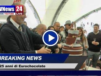Eurochocolate compie 25 anni grande festa in Piazza IV novembre