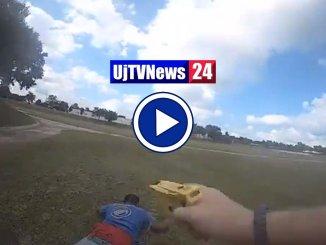 Guardate in questo video l'arresto di una persona, a Tulsa, usando il Taser