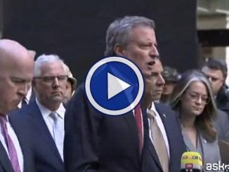 """Pacchi bomba in Usa, video del sindaco di New York: """"Atto di terrorismo"""""""