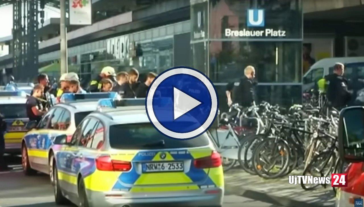 Colonia. Polizia ferma aggressore una donna, video, uomo in ospedale