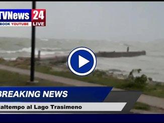 Maltempo in Umbria, tempesta al Lago Trasimeno
