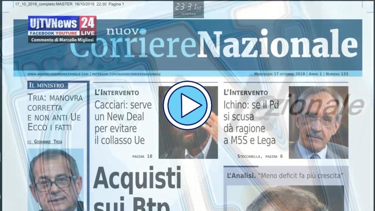 Spread e Btp, video presentazione del Nuovo Corriere Nazionale del 17 ottobre 2018